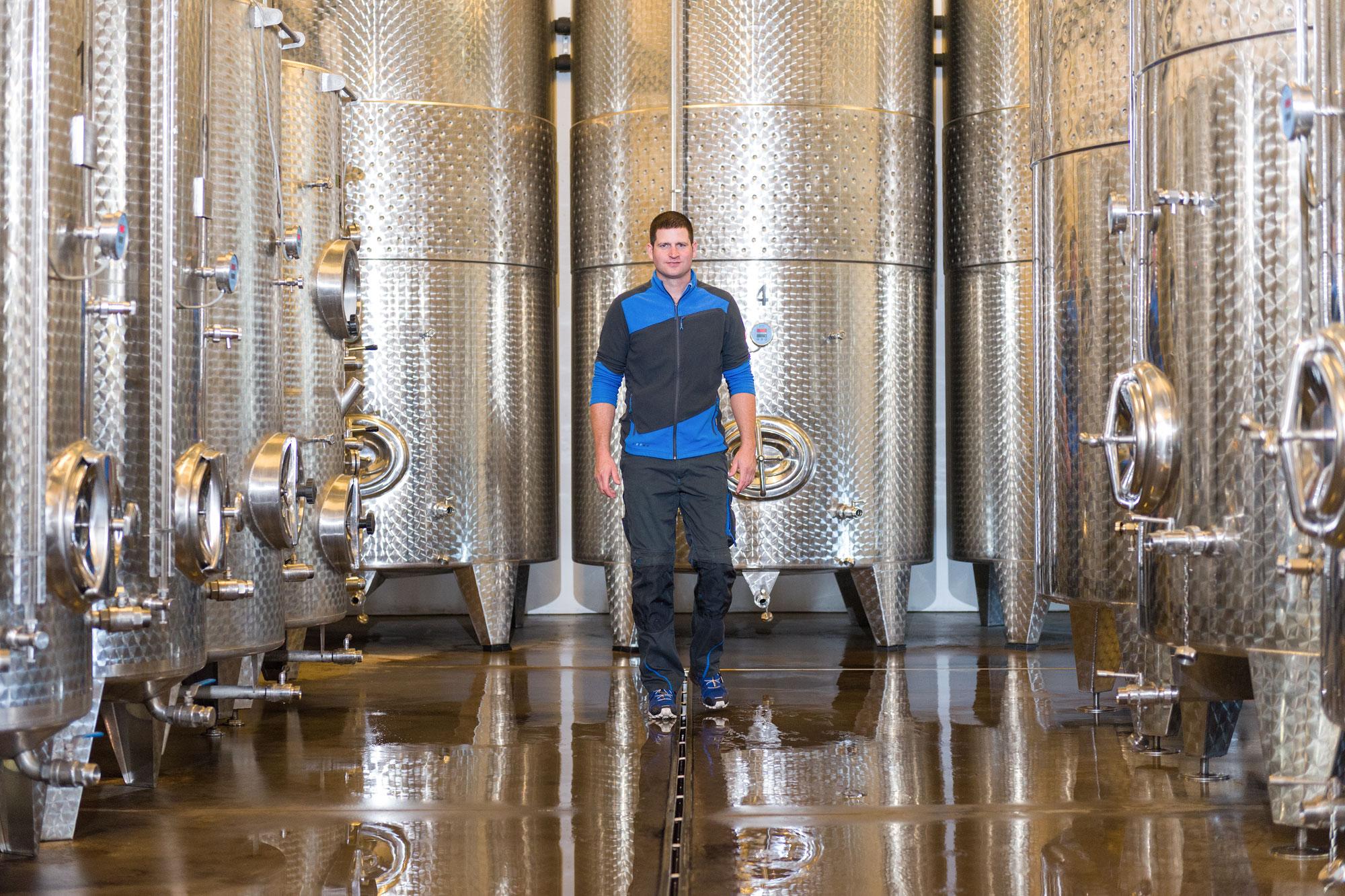 Weingut Schrejma Weinviertel Produktionshalle